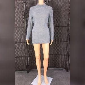 GRAY SOFT FUZZY DRESS/ Size:S 🍁🍂💃🏾